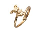 """Золотое кольцо """"Зайчик"""", красное золото, 585 проба"""