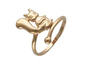 Золотое кольцо Белочка разомкнутое, красное золото, 585 проба