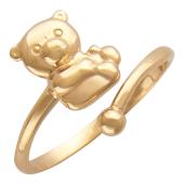 Золотое кольцо Мишка, красное золото 585 проба