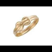 Кольцо Бесконечность узелки на счастье, красное золото