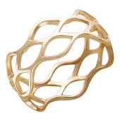Кольцо дизайнерское Сеть красное золото 8мм