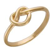 Кольцо Сердечко, бесконечная любовь, красное золото