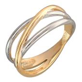 Кольцо с тремя дугами, красное золото