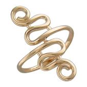 Кольцо на палец ноги Завитушка, красное золото