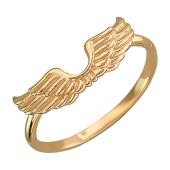 Кольцо Крылья Ангела без вставок, красное золото