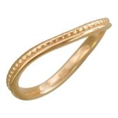 Кольцо Викс витое без вставок, красное золото