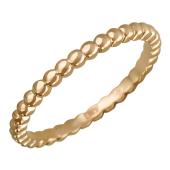 Кольцо Викс с шариками, красное золото