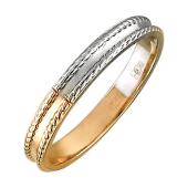 Кольцо Дуэт без вставок, красное золото