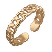 Кольцо разомкнутое в виде цепи, красное золото