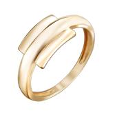 Кольцо с геометрическими линиями, красное золото