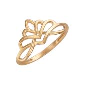 Кольцо Корона из красного золота