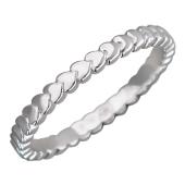 Кольцо Викс Сердечки, белое золото