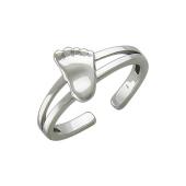 Кольцо с Пяточкой Младенца, белое золото