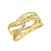 Кольцо Колосок из желтого золота 585 пробы