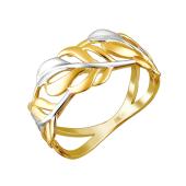 Кольцо Веточка из желтого золота