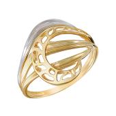Кольцо ажурное из желтого золота