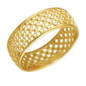 Кольцо Сеточка из желтого золота 585 пробы