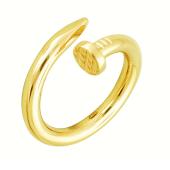 Кольцо Гвоздь желтое золото 585 пробы