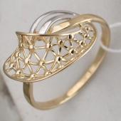 Кольцо Сеточка, желтое золото 585 пробы