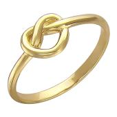 Кольцо Сердечко, бесконечная любовь, желтое золото