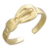 Кольцо на палец ноги Ремень, желтое золото
