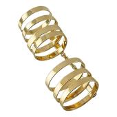 Кольцо длинное на весь палец, желтое золото