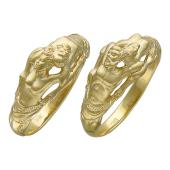 Кольцо Эллада, изображение мужчины и женщины, желтое золото