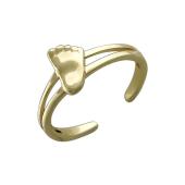 Кольцо Пяточка Младенца, желтое золото