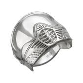 Кольцо мужское Шлем из стерлингового серебра