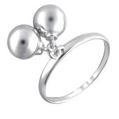 Кольцо Шарики из серебра 925 пробы