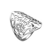 Кольцо ажурное без камней из стерлингового серебра