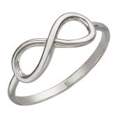 Кольцо Бесконечность без вставок гладкое, серебро