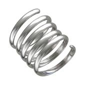 Кольцо Пружинка на весь палец (фаланговое), серебро
