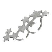 Кольцо на два пальца Звезды с матированием, серебро
