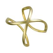 Кольцо на весь палец (фаланговое) двустороннее, серебро с позолотой