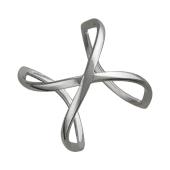 Кольцо на весь палец (фаланговое), серебро