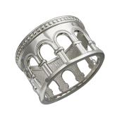 Кольцо Европа с колоннами, серебро