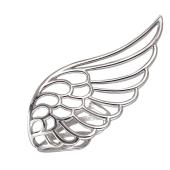 Кольцо Крыло Ангела разомкнутое, серебро