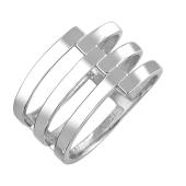 Кольцо Пружинка из стерлингового серебра 925 пробы