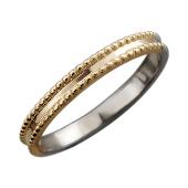 Кольцо Дуэт двустороннее, желтое и белое золото