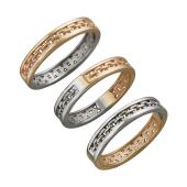 Кольцо Якорное двустороннее из красного и белого золота
