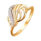 Кольцо c фианитами из красного золота 925 пробы