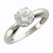 Кольцо для помолвки с большим фианитом, белое золото