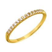 Кольцо Дорожка с фианитами, желтое золото 585 пробы