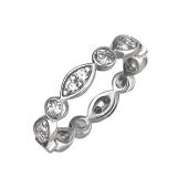 Кольцо Дорожка с фианитами из серебра