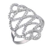Кольцо с фианитом из серебра 925 пробы