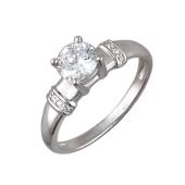 Кольцо с фианитами из серебра 925 пробы
