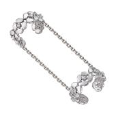 Кольцо на две фаланги Цветы с фианитами, серебро