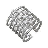 Кольцо фаланговое с фианитами состоит из семи колец, серебро 20 мм