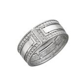 Кольцо с фианитами, серебро